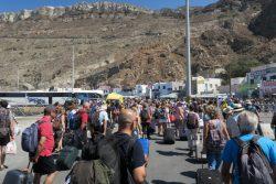 Ankunft auf Santorini
