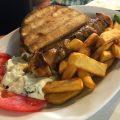 Chicken Souvlaki bei Kostas in Mykonos Stadt