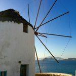 Die bekannten Windmühlen auf Mykonos