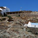 Kleine Kirche in den Bergen auf Mykonos