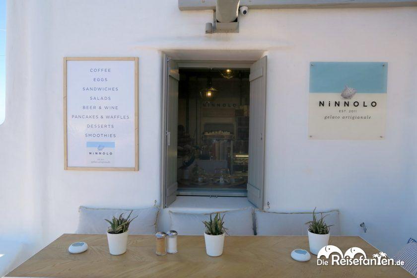 Minimalistischer, schöner Stil von Ninnolo Eis auf Mykonos