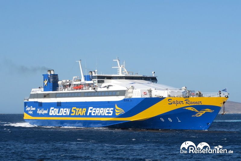 Mit der Fähre von Golden Star Ferries von Mykonos nach Santorini