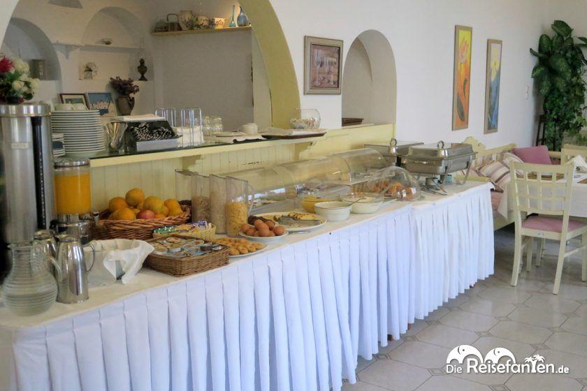Das Frühstücksbuffet im Hotel Magas