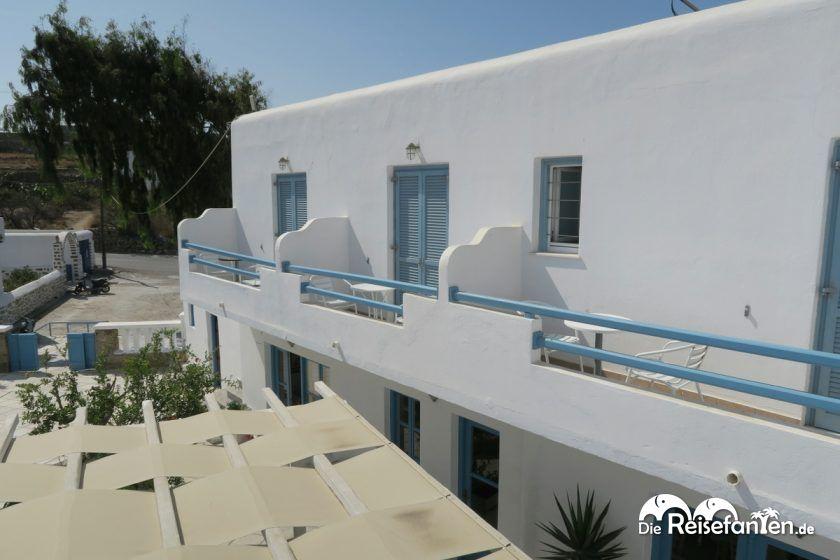 Der erste Steck im Magas Hotel auf Mykonos