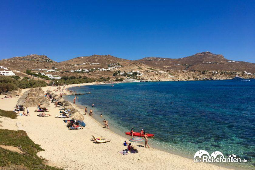 Der Kalafati Beach auf Mykonos