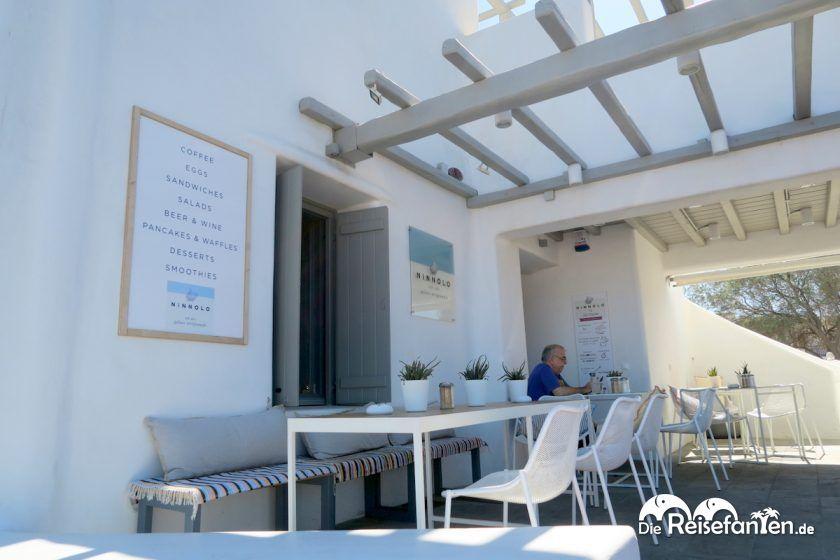 Der Laden von Ninnolo Eis in Ano Mera auf Mykonos