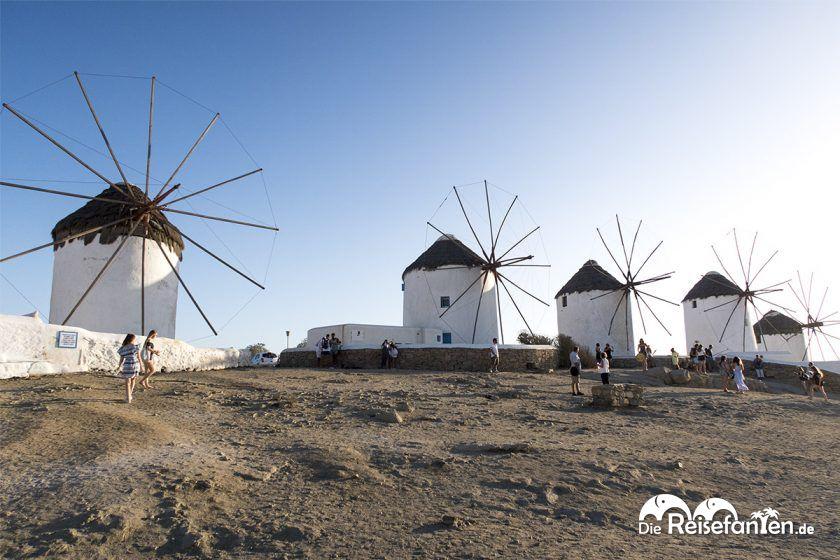 Die Windmühlen Kato Mili auf Mykonos