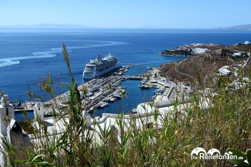 Mykonos ist ein bevorzugter Kreuzfahrthafen