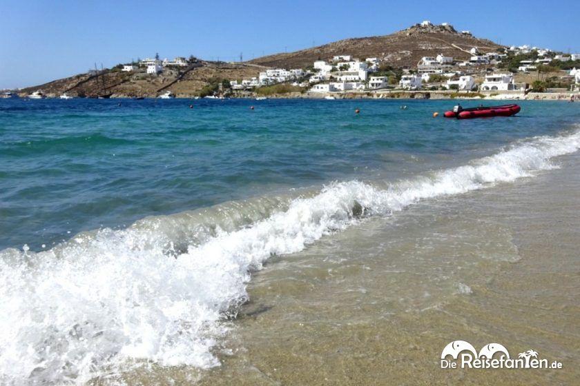 Ornos Beach auf Mykonos