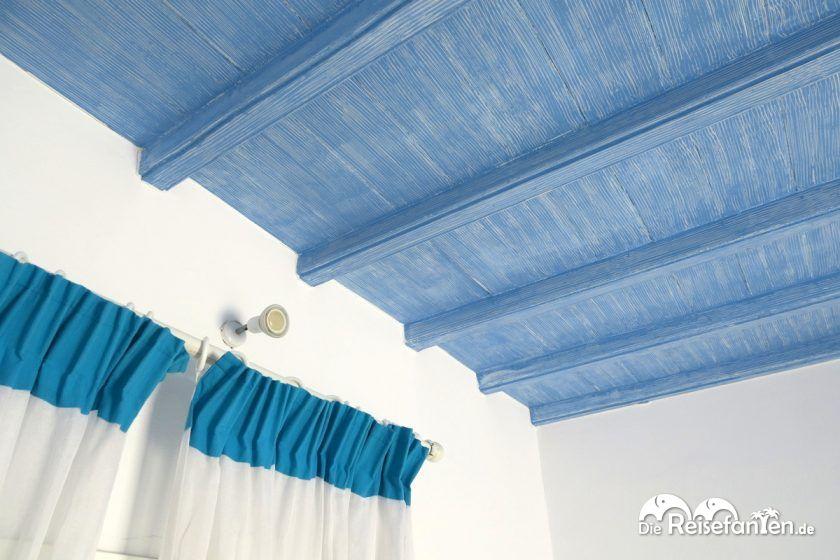 Stimmige Decke im Magas Hotel auf Mykonos