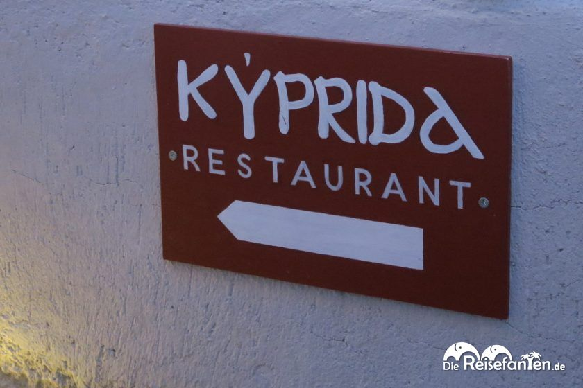 Hier geht es zum Restaurant Kyprida in Oia