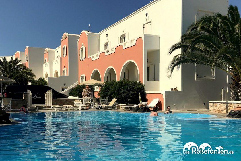 Das Hotel Villa Manos auf Santorini