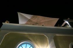 Die Dachterrasse vom Restaurant Kyprida in Oia