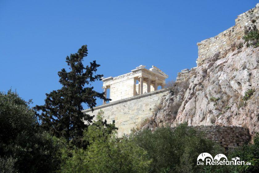 Ansicht der Akropolis in Athen
