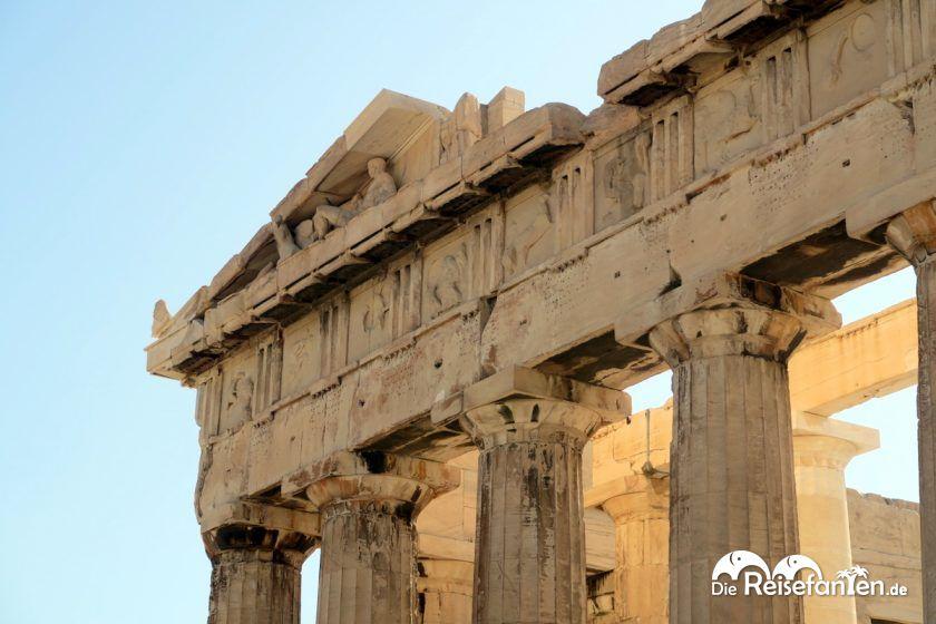 Dachkonstruktion der Akropolis in Athen