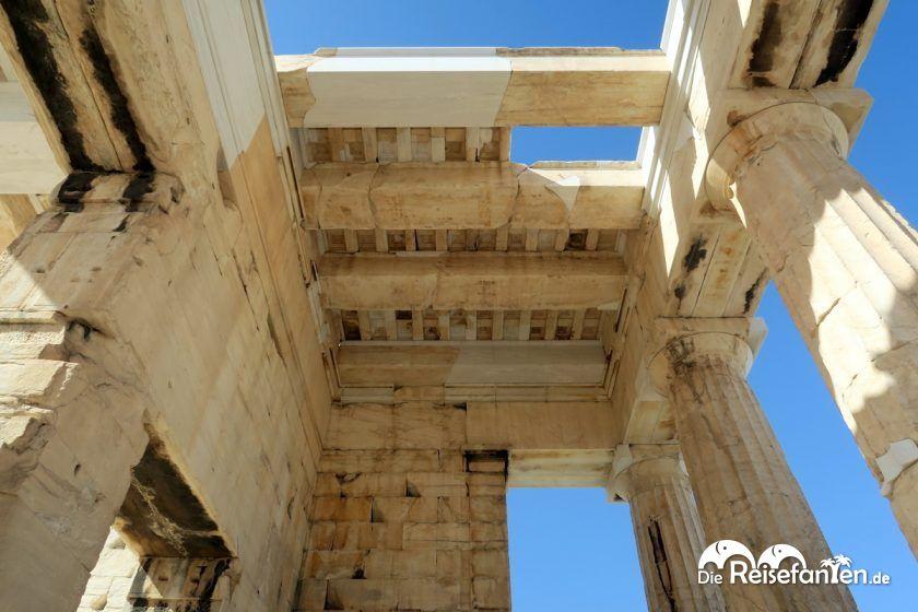 Deckenkonstruktionen bei der Akropolis in Athen