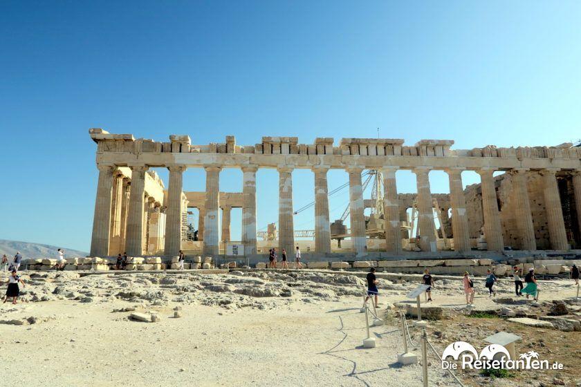 Die in Restaurierung befindliche Akropolis in Athen