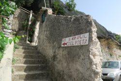 Aufgang zur Pension Il Rifugio del Poeta in Ravello