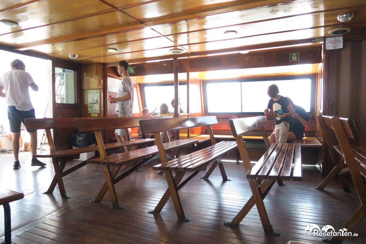Im Inneren des Travel Mar Bootes