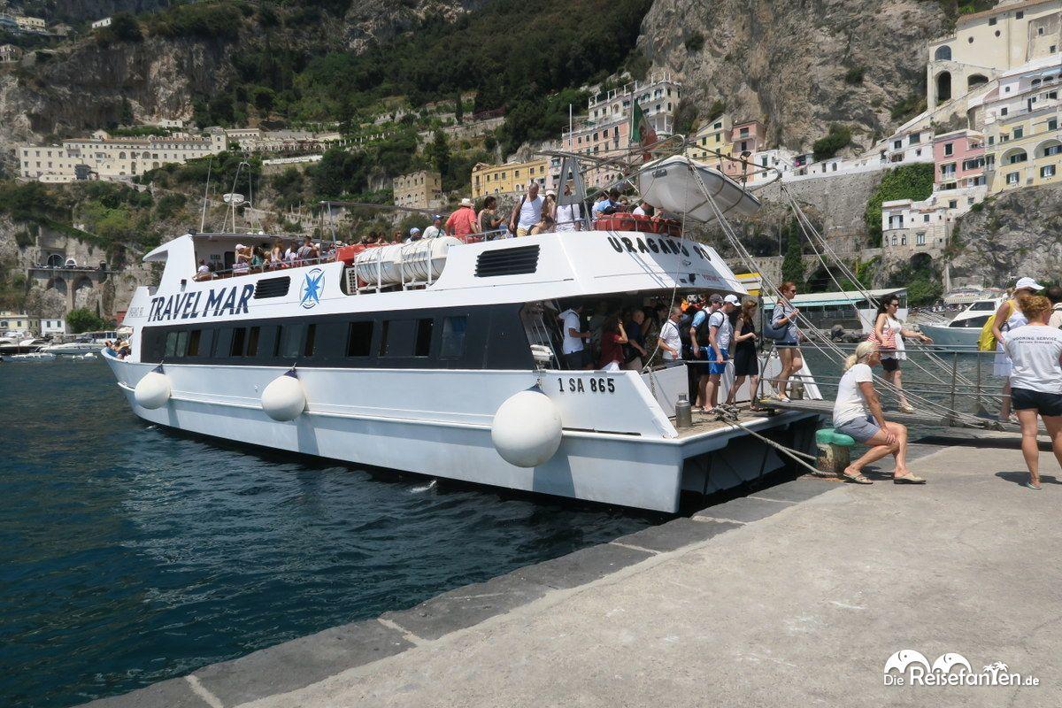 Unser Boot von Travel Mar, das uns nach Positano bringen sollte