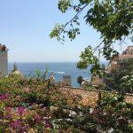 Blick von Positano aufs Meer