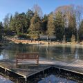 Der Margarethensee im Grugapark in Essen