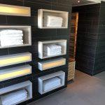 Für Handtücher ist gesorgt im Sauabereich im Atlantic Congress Hotel in Essen
