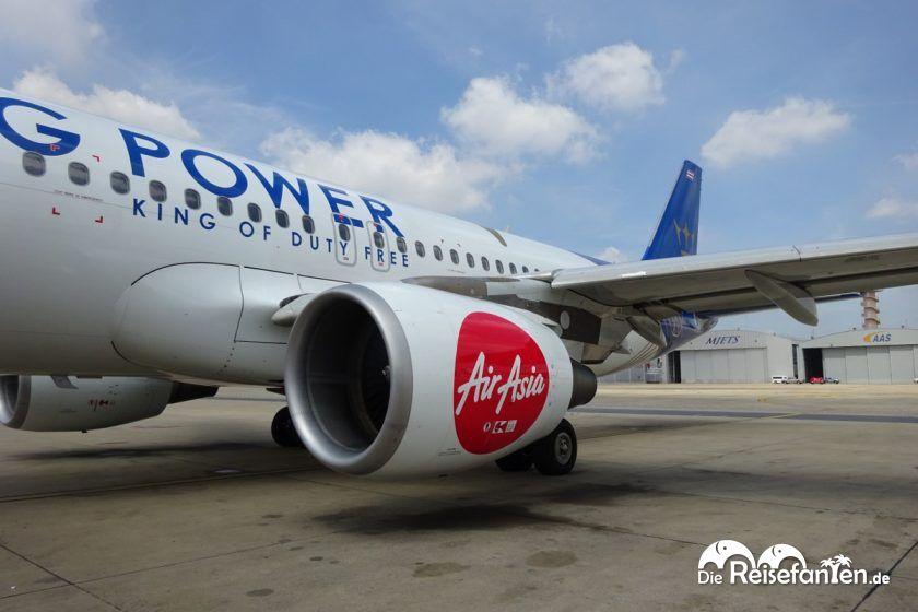 Air Asia Flug von Bangkok nach Singapur