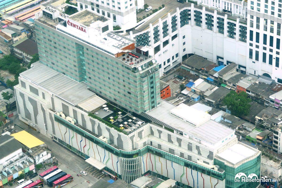 Das Centara Watergate Pavillion Hotel Bangkok von oben