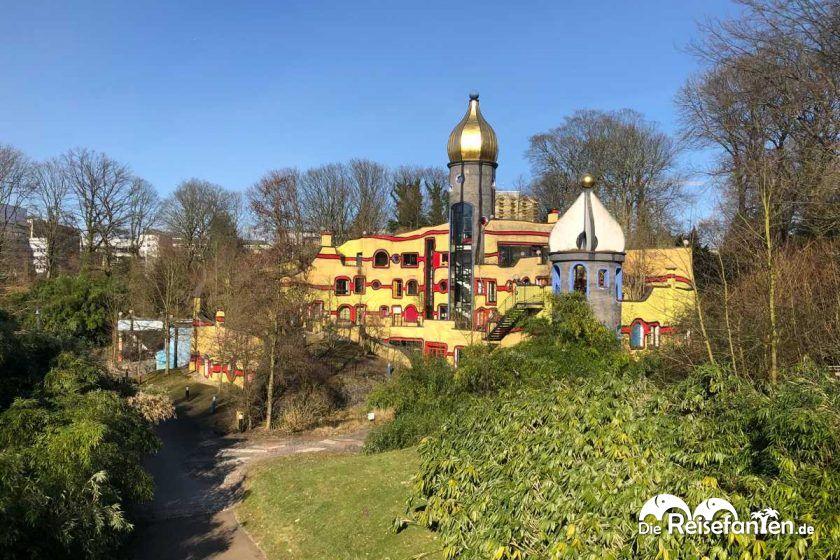 Das Hundertwasser Haus im Grugapark in Essen