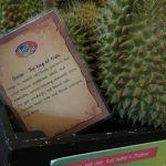 Durian als König der Früchte im Baiyoke Sky Hotel in Bangkok