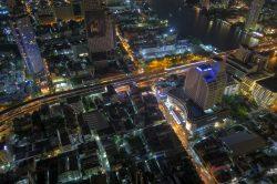 Ein weiterer Blick von der Sky Bar im Lebua in Bangkok