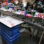 Frische Ware auf dem Markt von Nonthaburi