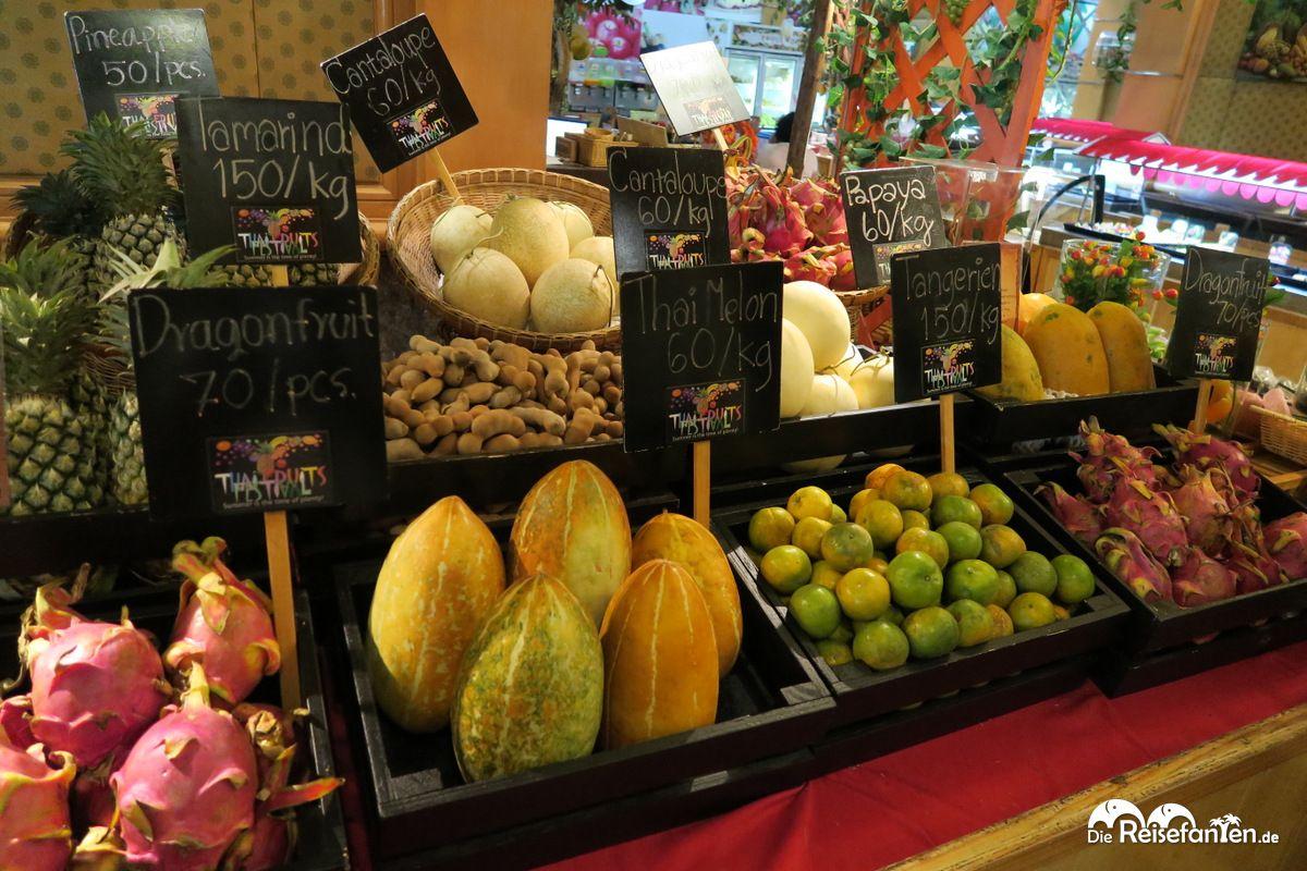 Fruchtmarkt im Baiyoke Sky Hotel in Bangkok