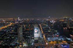 Spektakulärer Blick von der Sky Bar im Lebua in Bangkok