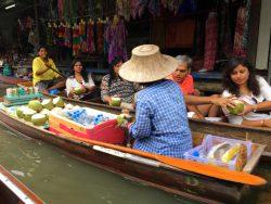 Auch Kokosnüsse werden direkt durch Marktfrauen verkauft