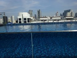 Pool mit Aussicht im Holiday Inn Express Singapore Clarke Quay