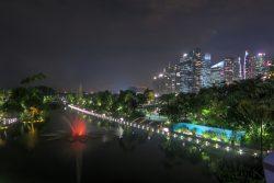 Wasserfontäne in Singapur