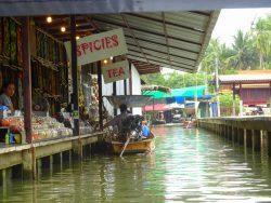 Zunächst war es im Floating Market noch recht leer