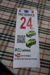 Julie Taxi Service bietet in Bangkok einen 24 Stunden Service