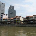 Am Boat Quay in Singapur