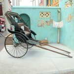 Eine Rikscha in Singapurs Chinatown
