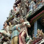 Figuren am Sri Mariamman Tempel