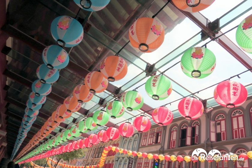 Lampions in Singapurs Chinatown