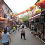 Straßenszene in Singapurs Chinatown