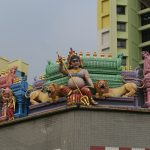 Tempelfiguren in Little India in Singapur