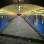 Unterirdischer Tunnel in Singapur