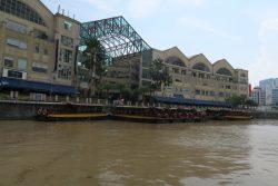 Anlegestelle Clarke Quay für die River Cruise in Singapur
