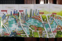 Auszug der Strecke der River Cruise in Singapur