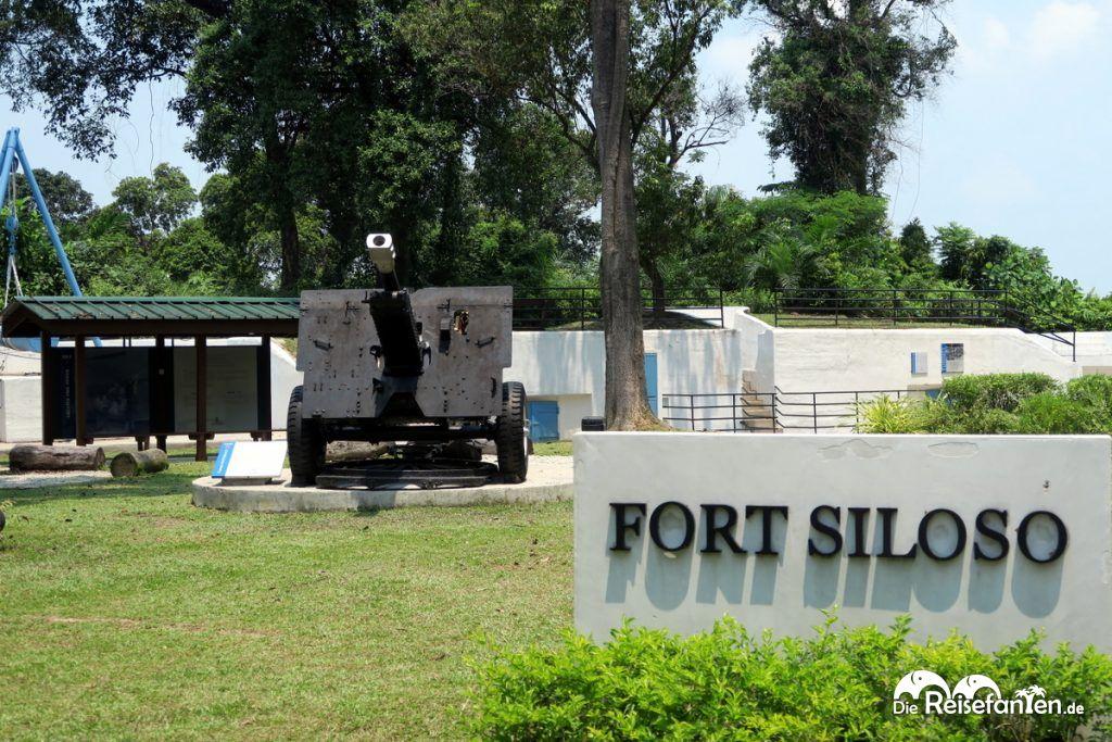 Das Fort Siloso auf Sentosa Island vor Singapur